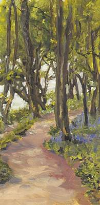 Wall Art - Painting - Bluebell Woods by Katherine Farrell