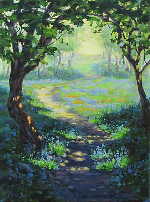Painting - Bluebells And Sunshine by Karen Ilari