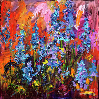 Painting - Bluebells Impressionsit Oil Painting by Ginette Callaway