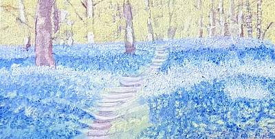 Painting - Bluebells by Joanne Perkins