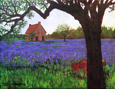 Painting - Bluebells Meadow by Janet Greer Sammons