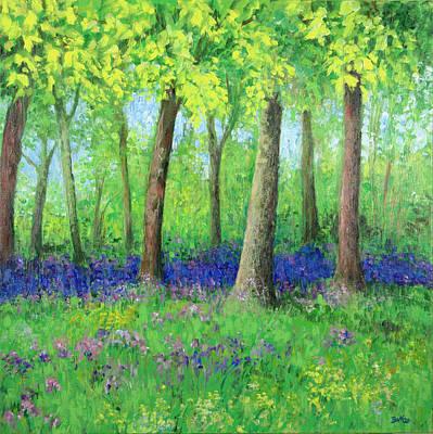 Bluebells Painting - Bluebells by Sandra Delaney