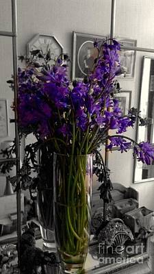 Photograph - Bluebells Still Life by Joan-Violet Stretch