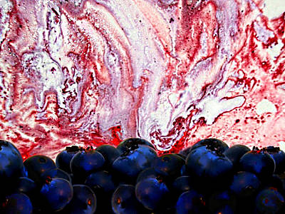 Blueberry Mixed Media - Blueberries And Dreams by Steven Peters