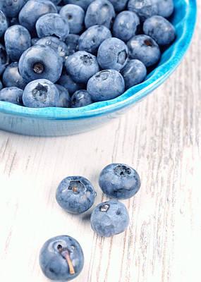 Blueberries Art Print by Andreas Berheide