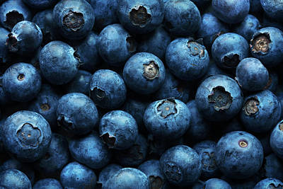 Blueberry Wall Art - Photograph - Blueberries Background Close-up by Johan Swanepoel