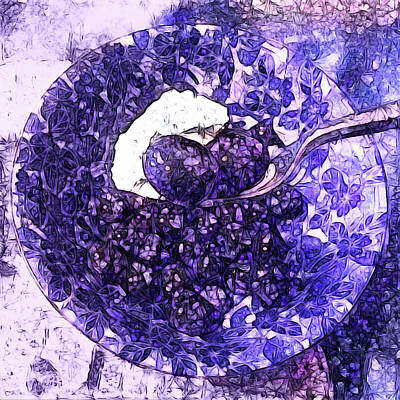 Photograph - Blueberries For Breakfast by Susan Maxwell Schmidt