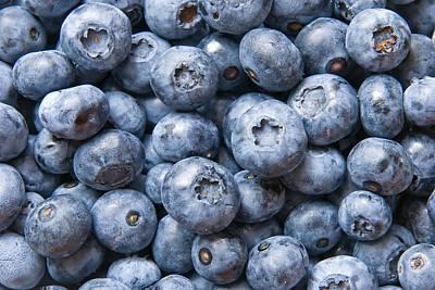 Fruit Wall Art - Photograph - Blueberries by Jaroslaw Grudzinski