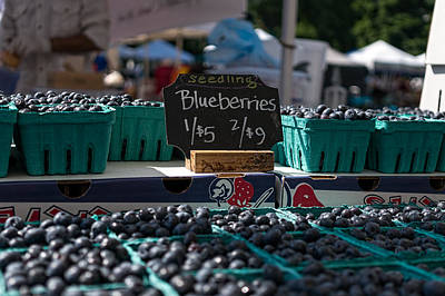 Photograph - Blueberries by Nisah Cheatham