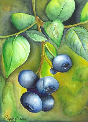 Blueberry Painting - Blueberrries by Angela Armano