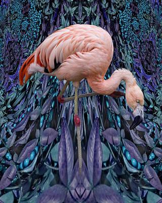 Blueberry Bird Art Print by Chuck Brittenham