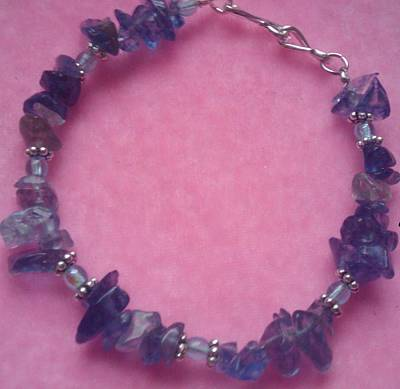Blueberry Quartz Jewelry Glass Art - Blueberry Blue by Melanie A Leon