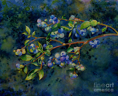 Fruit Tree Art Painting - Blueberry Branch by H Cooper