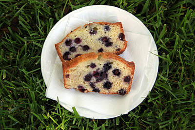 Flour Photograph - Blueberry Bread by Linda Woods