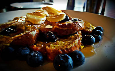Photograph - Blueberry Breakfast Toast by Marisela Mungia