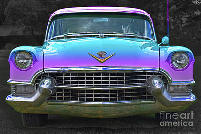 1955 Cadillac Photograph - Blueberry Buster, Cadillac Flavours by Malanda Warner