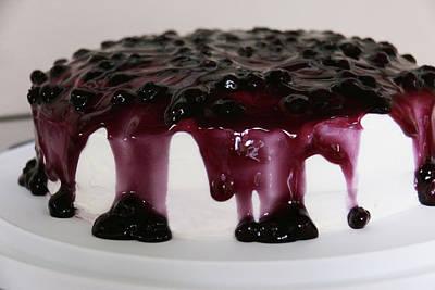 Blueberry Digital Art - Blueberry Cake by Lori Deiter