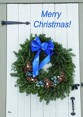 Photograph - Blueberry Christmas Wreath by Alana Ranney