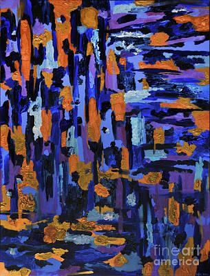 Painting - Blueberry Cobbler by Kafia Haile