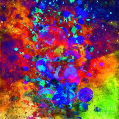 Blueberry Mixed Media - Blueberry Cocktail Abstract by Olga Hamilton