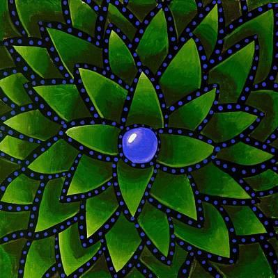 Digital Art - Blueberry Core - Abstract Art by Ai P Nilson