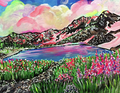 Fireweed Painting - Blueberry Hill by Lori Teich