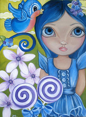 Blueberry Painting - Blueberry by Jaz Higgins