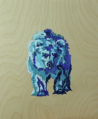 Bear Painting - Blueberry by Lacey Hermiston