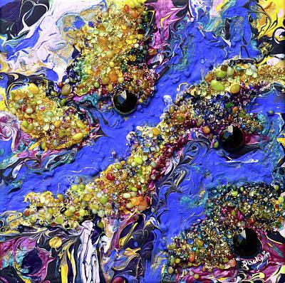 Mixed Media - Blueberry Mash by Donna Blackhall