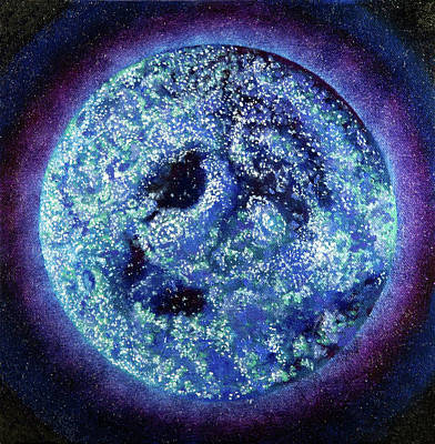 Visionary Art Painting - Blueberry Moon by Shelley Irish