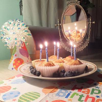 Photograph - Blueberry Muffin Birthday by Denise Fulmer
