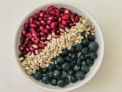 Photograph - Blueberry Pomegranate Power Flag by Amyn Nasser