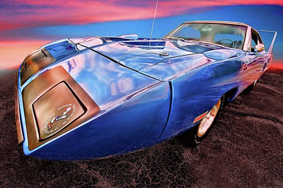 Bluebird - 1970 Plymouth Road Runner Superbird Print by Gordon Dean II