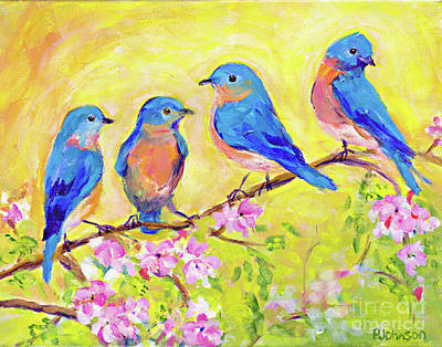 Painting - Bluebird Branch By Peggy Johnson by Peggy Johnson