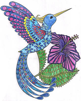 Digital Art - Bluebird by Brian Moore