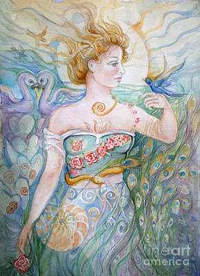 Swan Goddess Painting - Bluebird by Catherine Moore