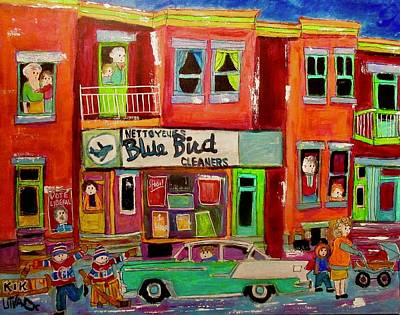 Painting - Bluebird Cleaners Wellington Point St. Charles by Michael Litvack