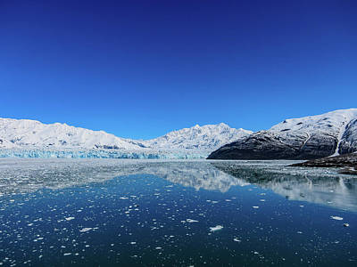 Photograph - Bluebird Day At Hubbard Glacier by Dave Matchett