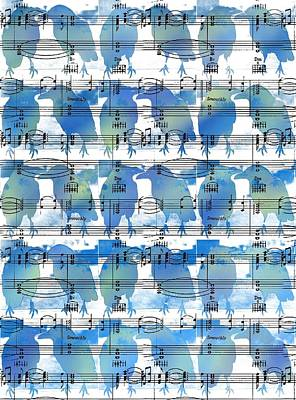 Bluebird Digital Art - Bluebird Duet by Maz