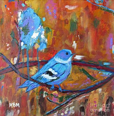 Bluebird In Autumn Art Print