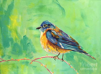 Painting - Bluebird by Kim Heil