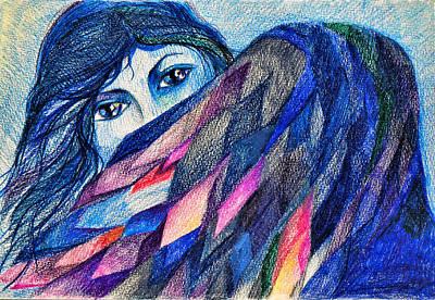 Bluebird Of Happiness. Art Print by Anastasia Michaels