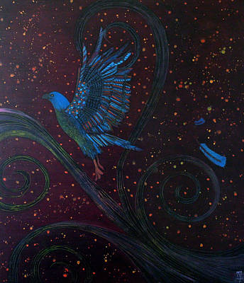 Painting - Bluebird Of Happiness by Monica Furlow