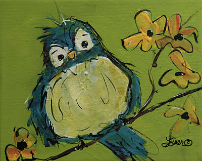 Painting - Bluebird Of Happiness by Terri Einer