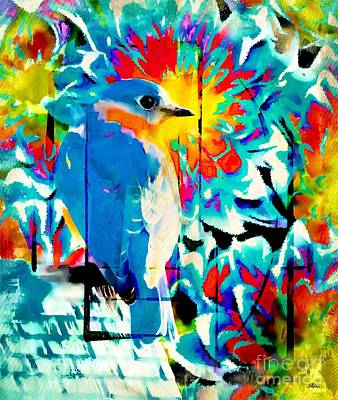 Bluebird Pop Art Art Print