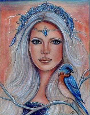 Bluebird Drawing - Bluebird by Renee Lavoie