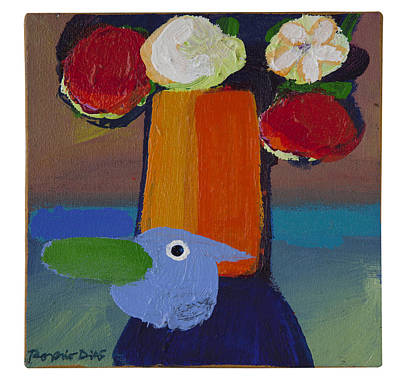Bluebird Art Print by Rogerio Dias