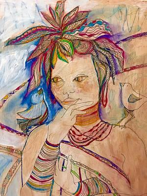 Wall Art - Painting - Bluebird by Rosalinde Reece