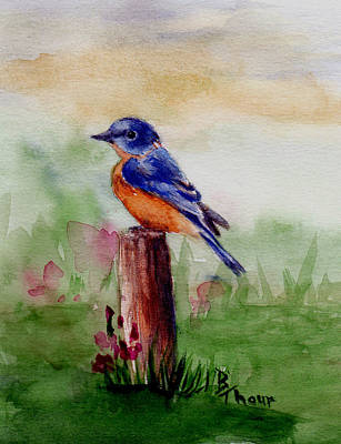 Painting - Bluebird Song by Brenda Thour