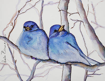 Painting - Bluebirds by Dale Bernard